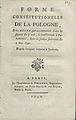 Forme constitutionelle de la Pologne - Paris 1791 - printer Victor Desenne.jpg