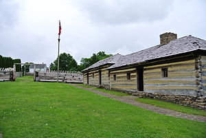 Fort Ligonier - Soldier's barracks and quartermaster's store, 2012.
