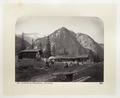 Fotografi av stugor och berg i Schweiz - Hallwylska museet - 103182.tif
