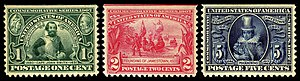 Jamestown Exposition - Jamestown Exposition commemorative stamps, 1907 Issue
