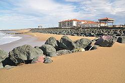 Anglet's beach
