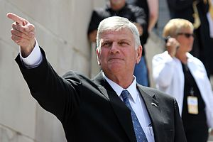 Franklin Graham - On the steps of the Nebraska State Capitol during his Decision America tour in 2016