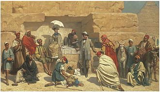 Franz Vinck - Lunch at the foot of the pyramids, Gizeh