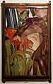 Franz hofstätter per vetreria loetz, quadro a mosaico con testa femminile, in vetro su rame e gesso, 1900.jpg