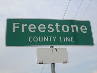 Freestone County, Texas - Image: Freestone County, TX sign IMG 2301