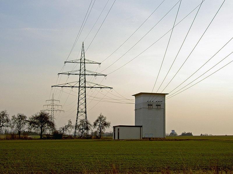 File:Freileitung mit Transformatorhaus.jpg
