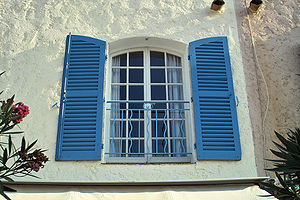 French window shutters