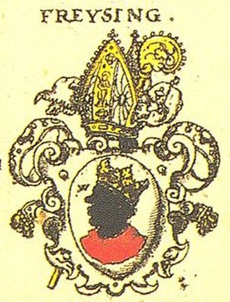 Mittenwald - Coat of arms of the Bishop of Freising