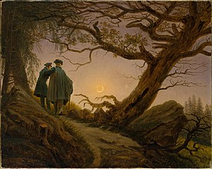 Two Men Contemplating the Moon - Image: Friedrich Two Men Contemplating the Moon