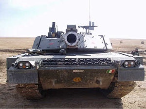 Front view of a Ariete tank