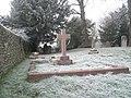Frozen cobwebs in Corhamton Churchyard - geograph.org.uk - 1115002.jpg