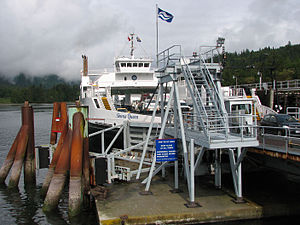 Fulford Harbour - Skeena Queen ferry unloading cars