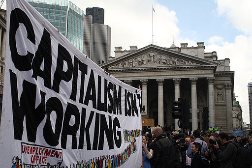 G20 capitalism banner