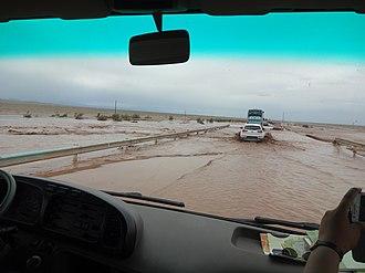 China National Highway 315 - Image: G315 Highway, Hotan Pref., Xinjiang, China After heavy rain
