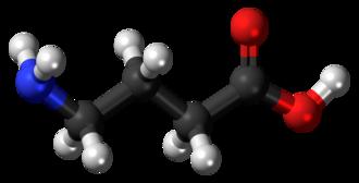 Gamma-Aminobutyric acid - Image: GABA 3D ball