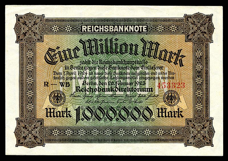 https://upload.wikimedia.org/wikipedia/commons/thumb/5/55/GER-86-Reichsbanknote-1_Million_Mark_%281923%29.jpg/800px-GER-86-Reichsbanknote-1_Million_Mark_%281923%29.jpg