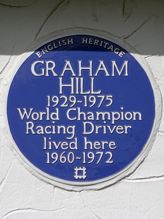 Photo of Graham Hill blue plaque