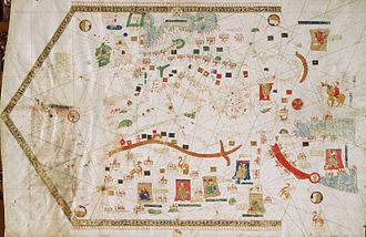 Portolan chart - 1439 portolan chart by Gabriel de Vallseca (Museu Maritim, Barcelona)