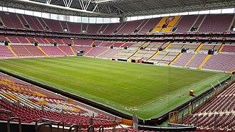 Türk Telekom Stadium - View of the stadium from the northeast stand corner, June 2017