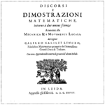 Galileo Galilei, Discorsi e Dimostrazioni Matematiche Intorno a Due Nuove Scienze, 1638 (1400x1400).png