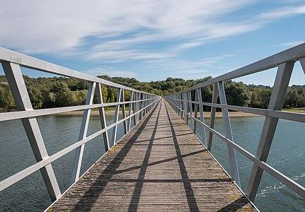 Bridge over the Ullíbarri-Gamboa reservoir between Garaio and Azua. Álava, Basque Country, Spain