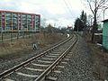 Gdańsk Orunia tor kolejowy w pobliżu ul. Głuchej.JPG