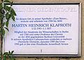 Gedenktafel Spandauer Str 25 (Mitte) Martin Heinrich Klaproth.JPG