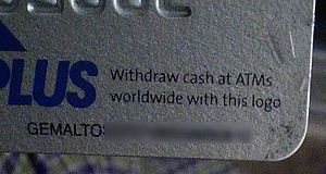 Gemalto - The back of an ATM card, bearing the name Gemalto in its label