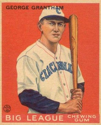 George Grantham - 1933 Goudey baseball card of Grantham
