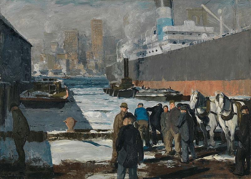 Men on the Docks, peinture de George Bellows