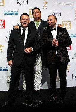 George Calombaris, Matt Preston and Gary Mehigan 2016 TV Week Logie Awards (26907450025)