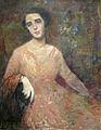 George Demtrescu Mirea - Doamna cu rochie roz.jpg