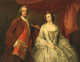A Man and a Woman, Possibly of the Missing Family, of Little Park House, Wickham, Hampshire