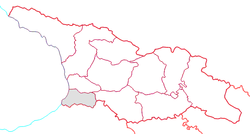 Ajaria (gray) within Georgia