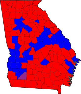 United States Senate election in Georgia, 2008 - Results by county