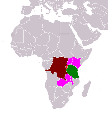 Rwanda and Burundi, with surrounding countries...