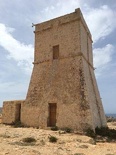 Għajn Tuffieħa Tower watchtower in Għajn Tuffieħa, limits of Mġarr, Malta