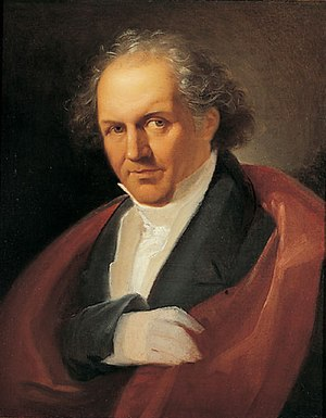 Giambattista Bodoni - Portrait of Bodoni (c. 1805-1806), by Giuseppe Lucatelli. Museo Glauco Lombardi.