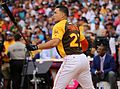 Giancarlo Stanton competes in semis of '16 T-Mobile -HRDerby. (28496640451).jpg