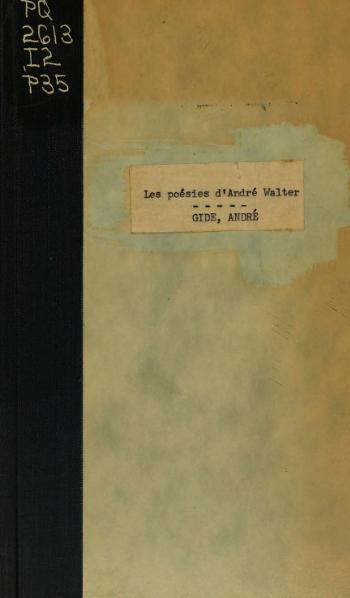 File:Gide - Les Poésies d'André Walter, 1922.djvu