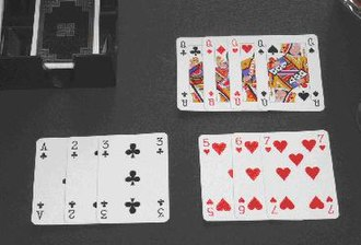 Gin rummy - Cards played from a Gin hand