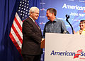 Gingrich and Kasich in Ohio campaign 2010.jpg