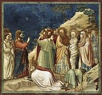 Giotto di Bondone - No. 25 Scenes from the Life of Christ - 9. Raising of Lazarus - WGA09204.jpg