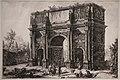 Giovanni battista piranesi, veduta dell'arco di costantino, dalla serie delle vedute di roma, 1771.jpg