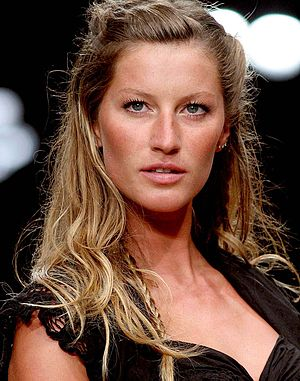 Brazilian top model Gisele Bündchen, on Fashio...