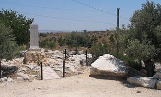 Qula - A memorial to the Alexandroni Brigade in Giv'at Ko'ah, Israel, lies near the former village of Qula.