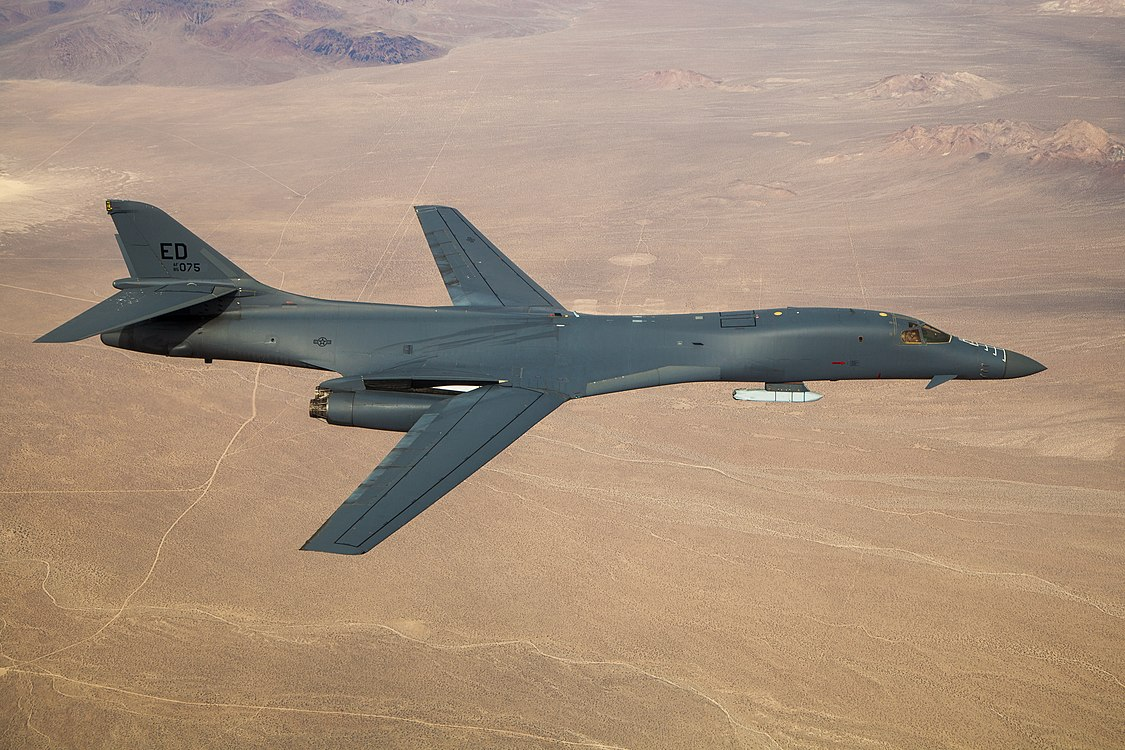 :File:Global Power Bomber CTF conducts B-1B external captive carry demonstration (201120-F-JG201-9095).jpg