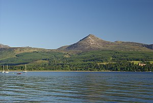 Goat Fell - Goat Fell as seen from Brodick harbour