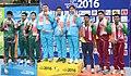 Gold Medallist of India Gagan Narang, Chain Singh and Hasan Imran Khan, Silver Medallist of Bangladesh Hel Abdullah Baki, Sovon Md Chowdhury and Kumar Anjan Singha and Bronze Medallist of Sri Lanka SMM Samarakoon.jpg