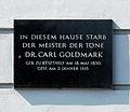 Goldmark Karl Gedenktafel Wien 2, Josef Gallgasse - Böcklinstraße 28.jpg